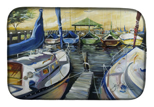 Buy this Seven Boats Sailboats Dish Drying Mat JMK1075DDM