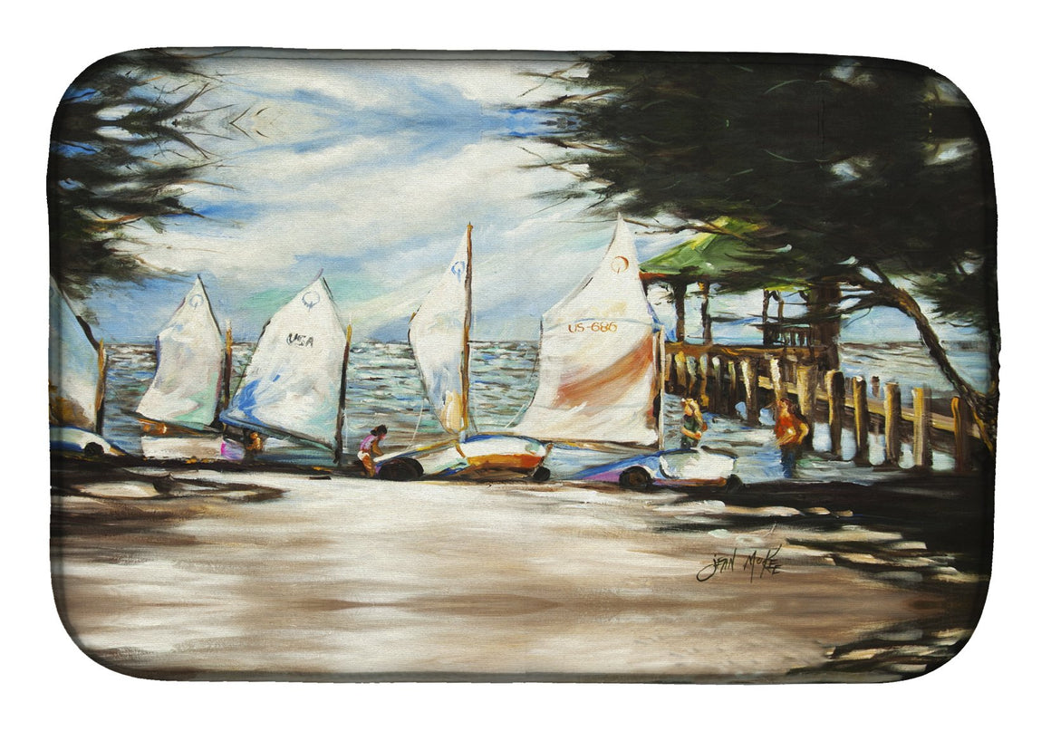 Buy this Sailing Lessons Sailboats Dish Drying Mat JMK1077DDM