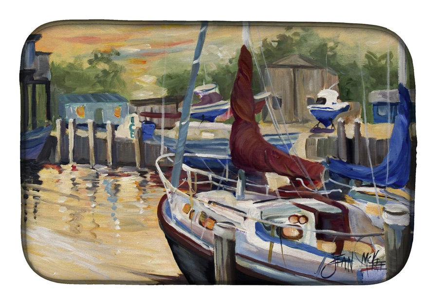Buy this New Sunset Bay Sailboat Dish Drying Mat JMK1083DDM