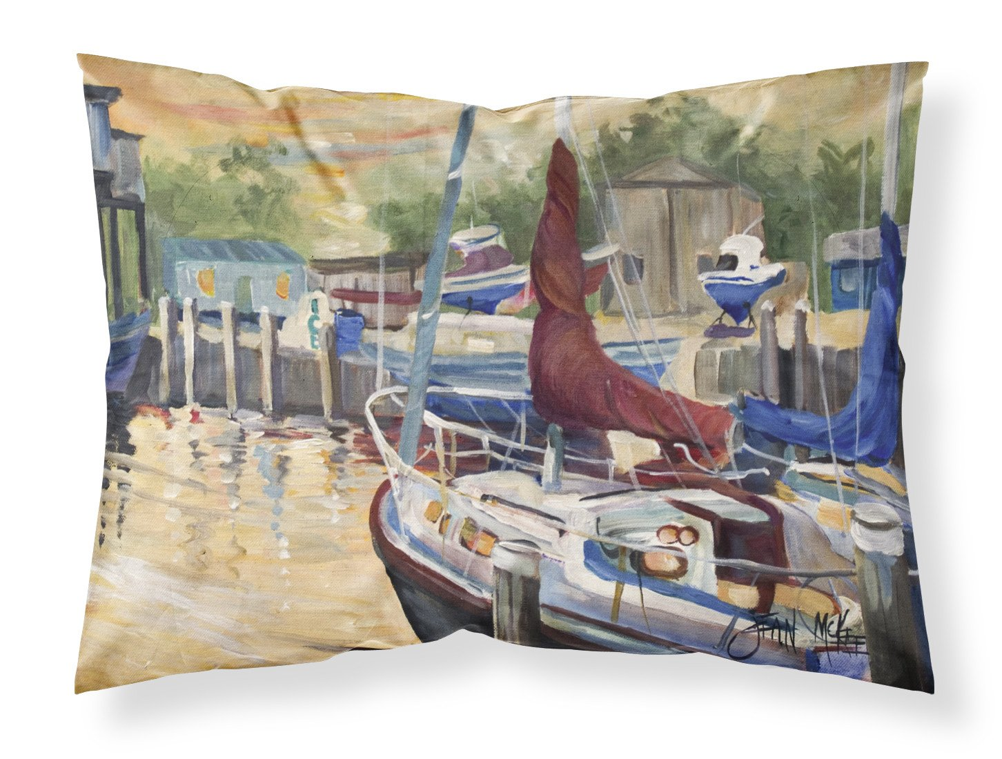 Buy this New Sunset Bay Sailboat Fabric Standard Pillowcase JMK1083PILLOWCASE