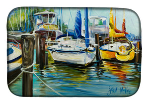 Buy this Yellow boat II Sailboat Dish Drying Mat JMK1085DDM