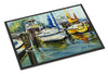 Yellow boat II Sailboat Indoor or Outdoor Mat 24x36 JMK1085JMAT - the-store.com