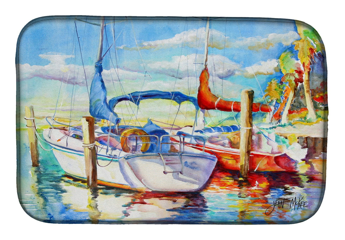 Buy this Towering Q Sailboat Dish Drying Mat JMK1088DDM