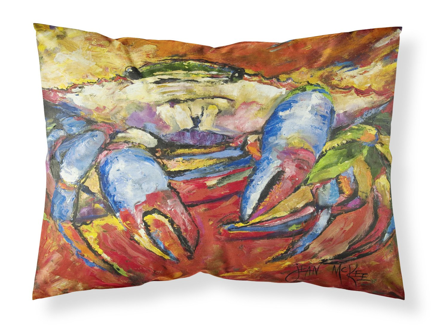 Buy this Blue Crab Red Fabric Standard Pillowcase JMK1107PILLOWCASE