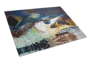 Blue Marlin Glass Cutting Board Large JMK1111LCB - the-store.com
