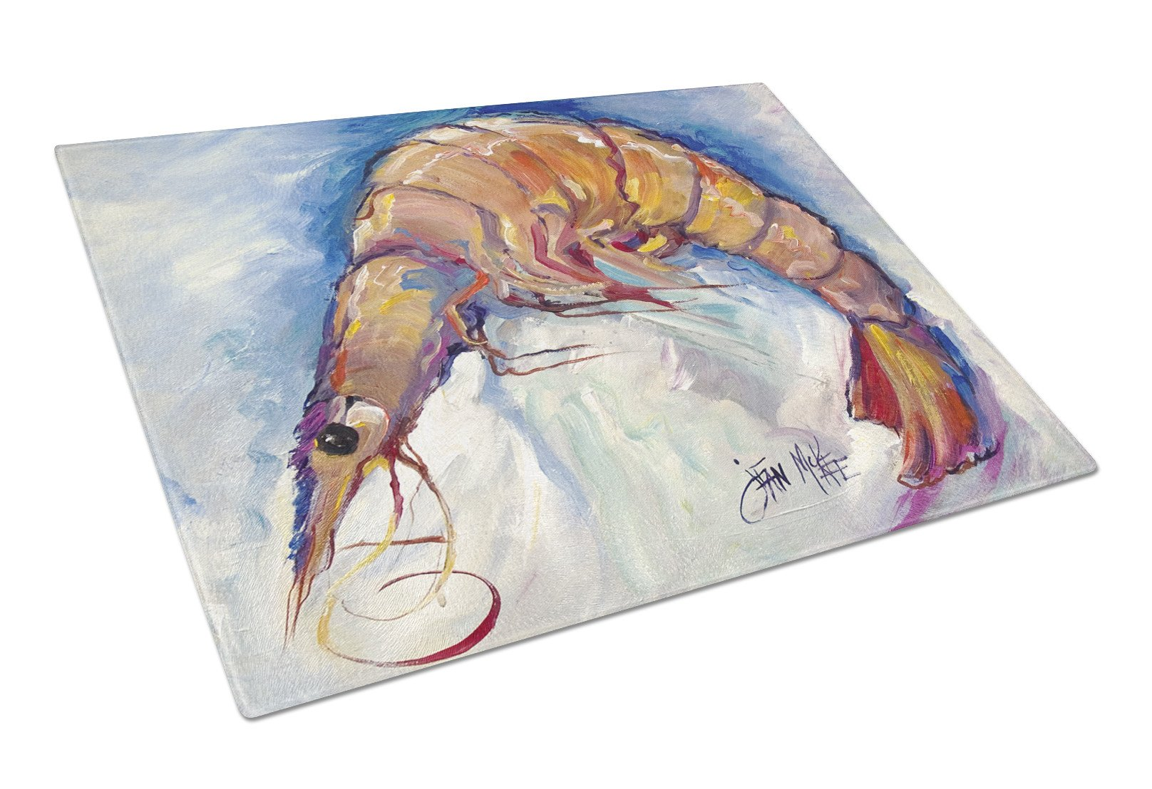 Shrimp Glass Cutting Board Large JMK1112LCB by Caroline's Treasures