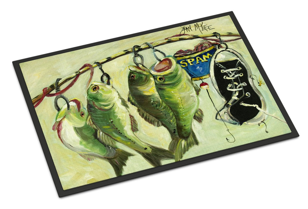 Buy this Recession Food Fish caught with Spam Indoor or Outdoor Mat 18x27 JMK1113MAT