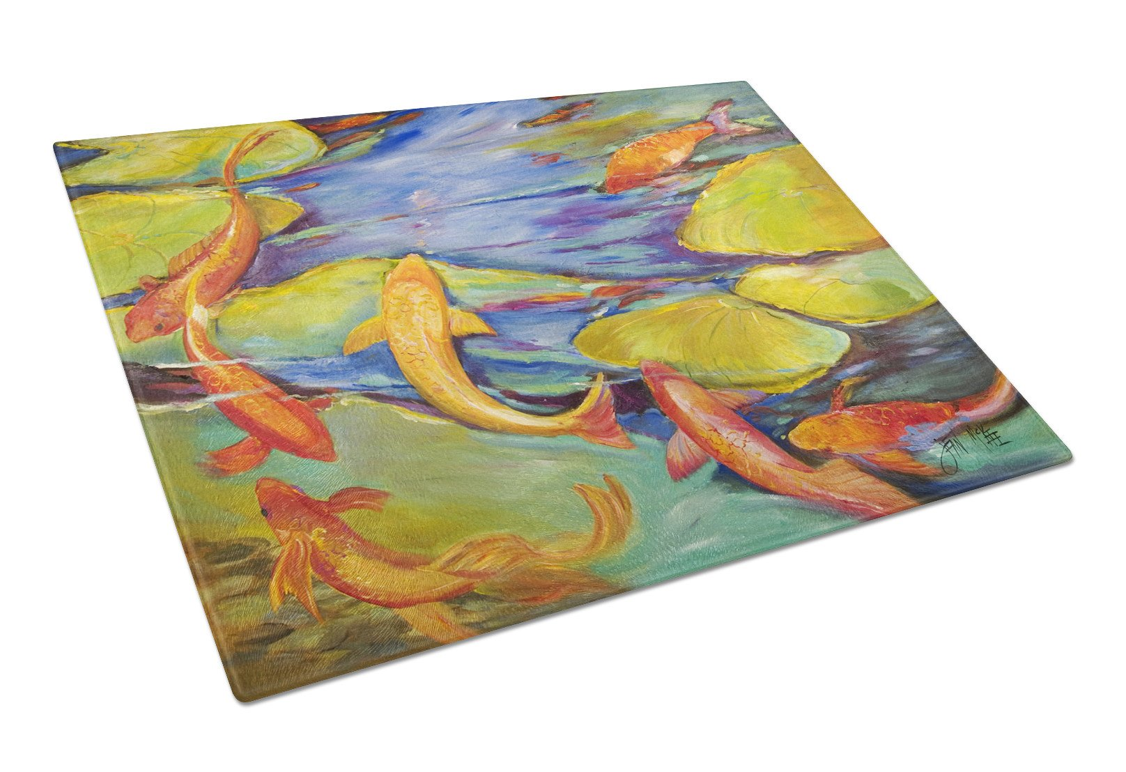 Buy this Koi Glass Cutting Board Large JMK1115LCB