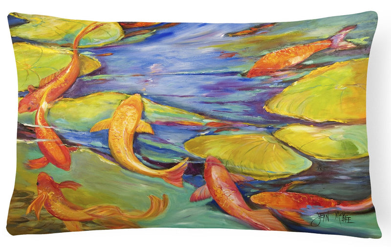 Buy this Koi Canvas Fabric Decorative Pillow JMK1115PW1216