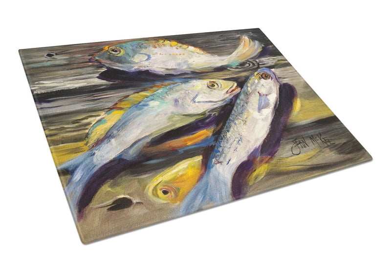 Buy this Fish on the Dock Glass Cutting Board Large JMK1116LCB