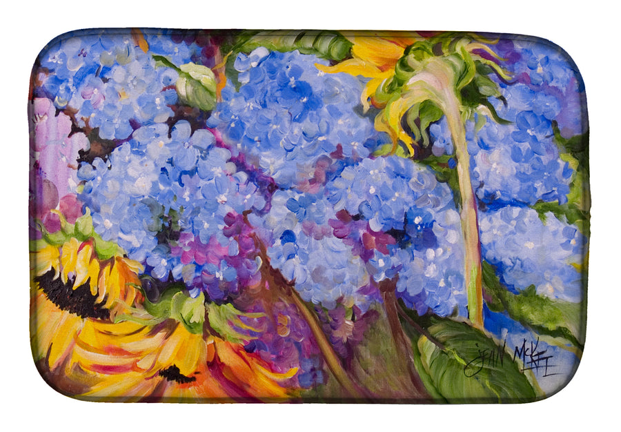 Buy this Hydrangeas and Sunflowers Dish Drying Mat JMK1119DDM