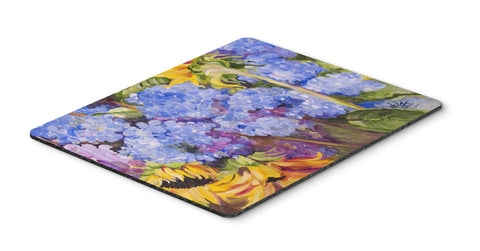 Buy this Hydrangeas and Sunflowers Mouse Pad, Hot Pad or Trivet JMK1119MP