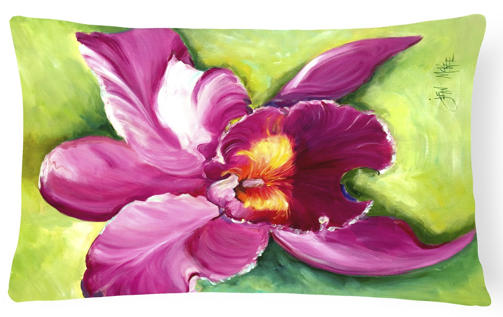 Buy this Orchid Canvas Fabric Decorative Pillow JMK1120PW1216