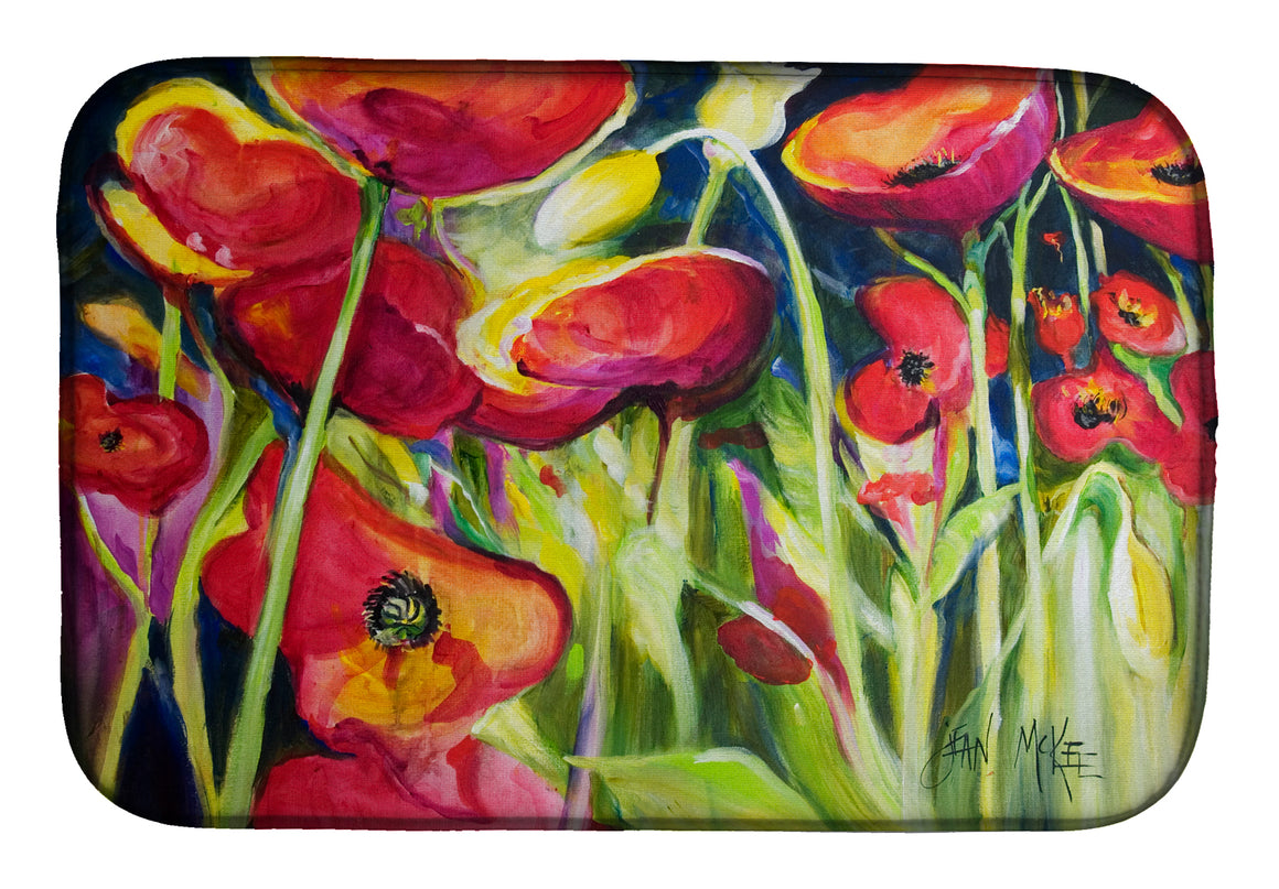 Buy this Red Poppies Dish Drying Mat JMK1121DDM