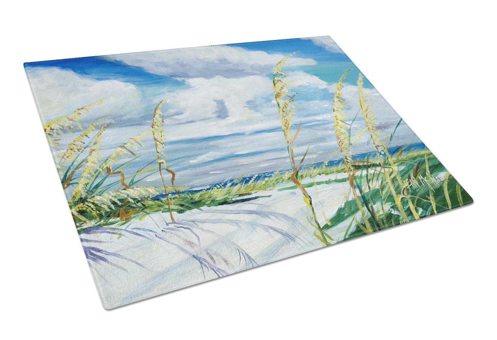 Buy this Sea Oats Glass Cutting Board Large JMK1123LCB