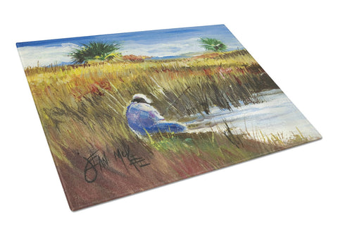 Buy this Fisherman on the Bank Glass Cutting Board Large JMK1125LCB