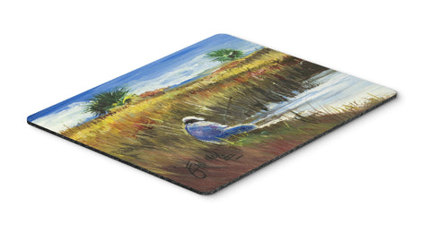 Buy this Fisherman on the Bank Mouse Pad, Hot Pad or Trivet JMK1125MP