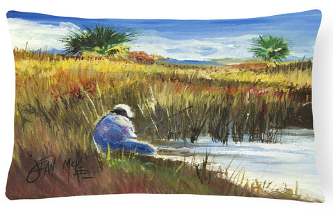 Buy this Fisherman on the Bank Canvas Fabric Decorative Pillow JMK1125PW1216