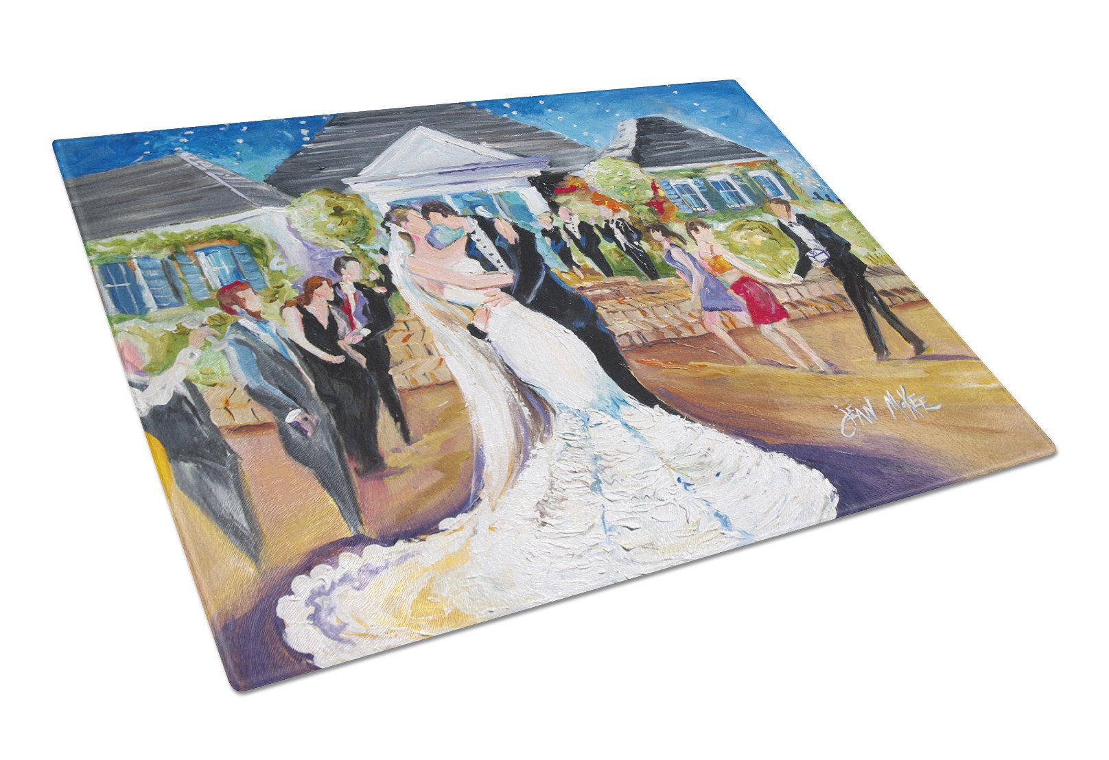 Buy this Our Wedding Day Glass Cutting Board Large JMK1127LCB