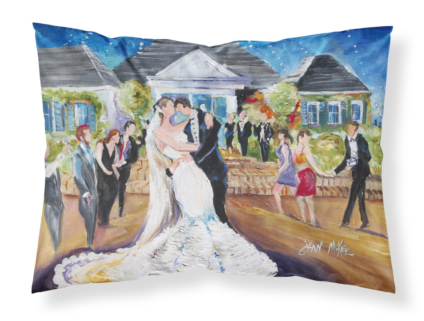 Our Wedding Day Fabric Standard Pillowcase JMK1127PILLOWCASE by Caroline's Treasures
