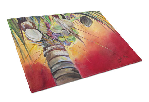 Buy this Sunset on the Coconut Tree Glass Cutting Board Large JMK1133LCB