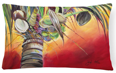 Buy this Sunset on the Coconut Tree Canvas Fabric Decorative Pillow JMK1133PW1216
