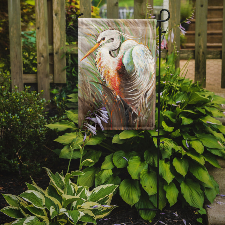 Buy this White Egret Flag Garden Size JMK1140GF