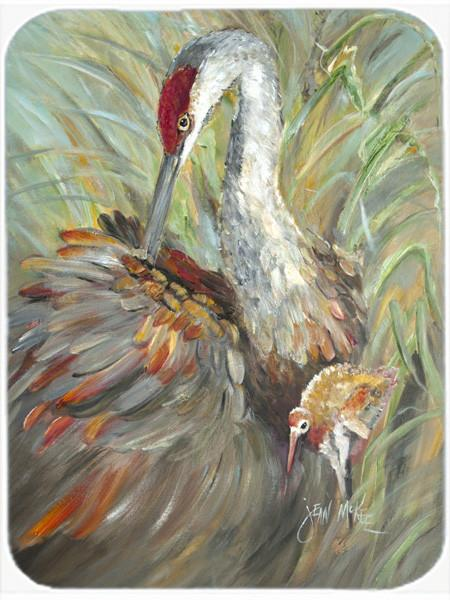 Buy this Sandhill Crane with baby Glass Cutting Board Large JMK1143LCB