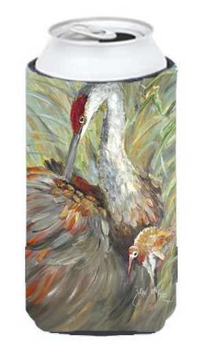 Buy this Sandhill Crane with baby Tall Boy Beverage Insulator Hugger JMK1143TBC