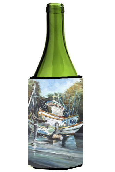 Shrimpers Cove and Shrimp Boats Wine Bottle Beverage Insulator Hugger JMK1152LITERK by Caroline's Treasures