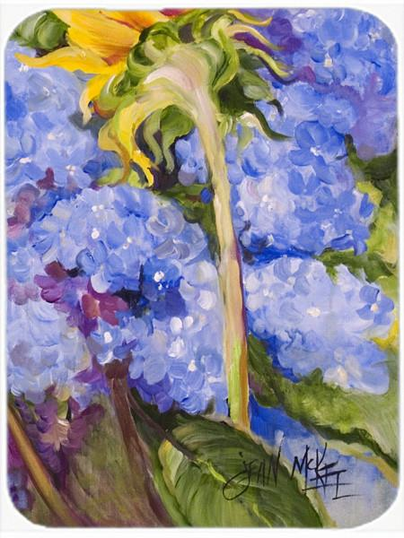 Buy this Hydrangea and Sunflower Glass Cutting Board Large JMK1174LCB