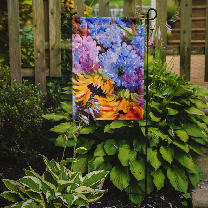 Buy this Hydrangeas and Sunflowers Flag Garden Size JMK1175GF