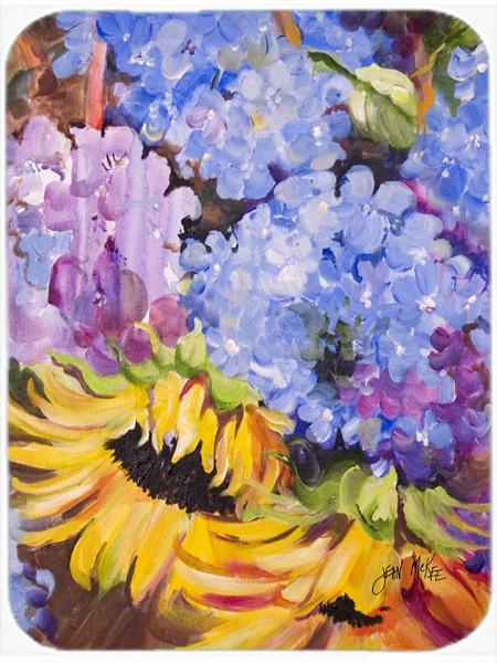 Buy this Hydrangeas and Sunflowers Glass Cutting Board Large JMK1175LCB