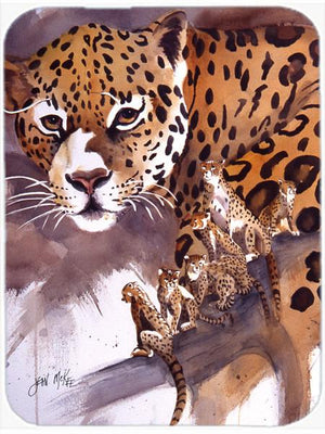Cheetah Glass Cutting Board Large JMK1193LCB - the-store.com