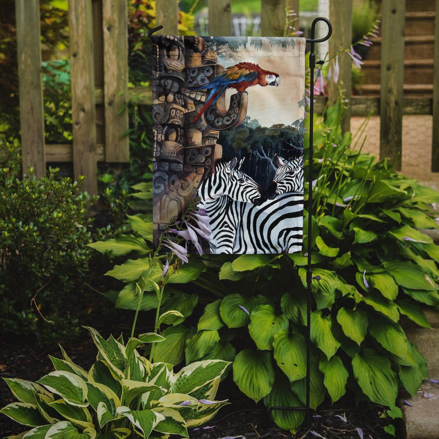 Buy this Zebras and Parrots Flag Garden Size JMK1200GF