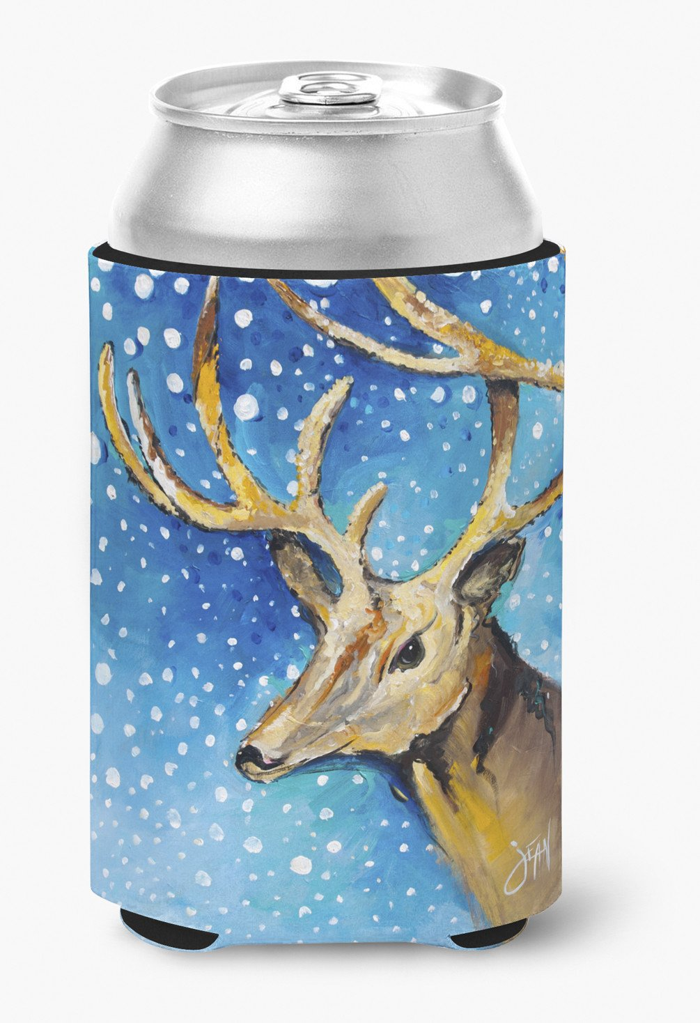 Reindeer Can or Bottle Hugger JMK1206CC by Caroline's Treasures