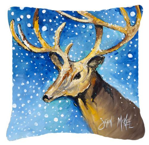Reindeer Canvas Fabric Decorative Pillow by Caroline's Treasures