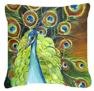 Buy this Peacock Canvas Fabric Decorative Pillow