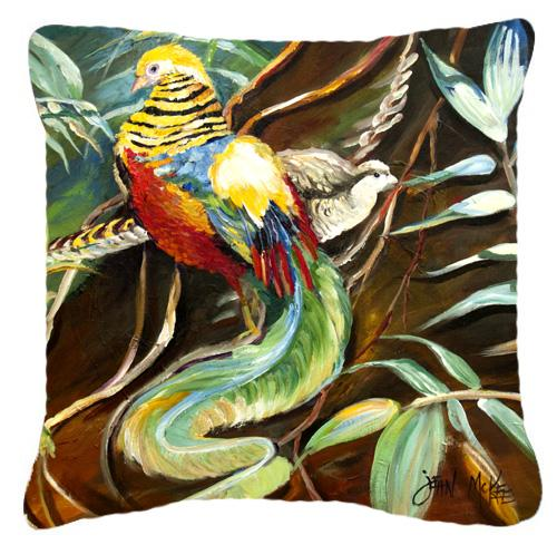 Mandarin Pheasant Canvas Fabric Decorative Pillow by Caroline's Treasures