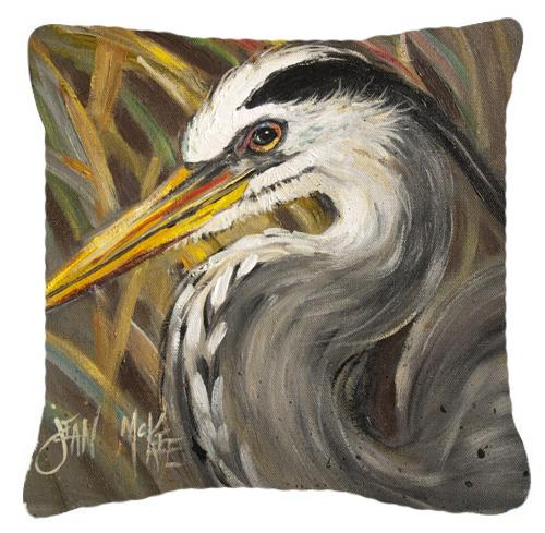 Blue Heron Canvas Fabric Decorative Pillow by Caroline's Treasures