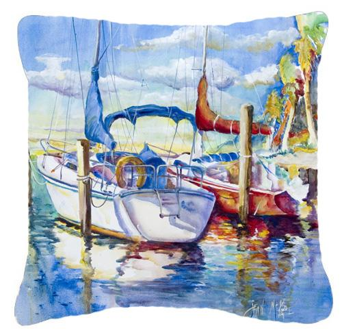 Buy this Towering Q Sailboats Canvas Fabric Decorative Pillow