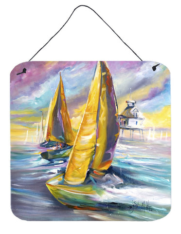 Buy this Middle Bay Lighthouse Sailboats Wall or Door Hanging Prints JMK1234DS66