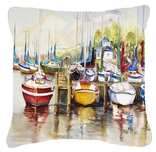 Buy this Paradise Sailboats Canvas Fabric Decorative Pillow
