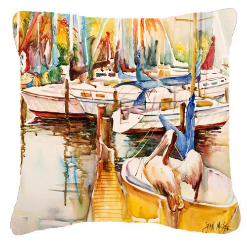Pelicans and Sailboats Canvas Fabric Decorative Pillow by Caroline's Treasures