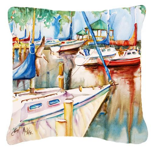 Gazebo and Sailboats Canvas Fabric Decorative Pillow by Caroline's Treasures