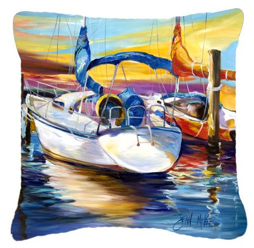 Buy this Symmetry again Sailboats Canvas Fabric Decorative Pillow