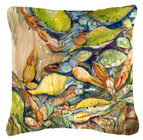 Jubilee Crabs Canvas Fabric Decorative Pillow by Caroline's Treasures