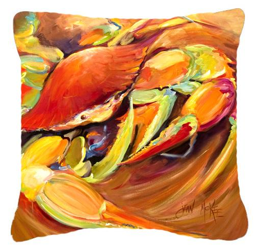 Crab Spice Canvas Fabric Decorative Pillow by Caroline's Treasures