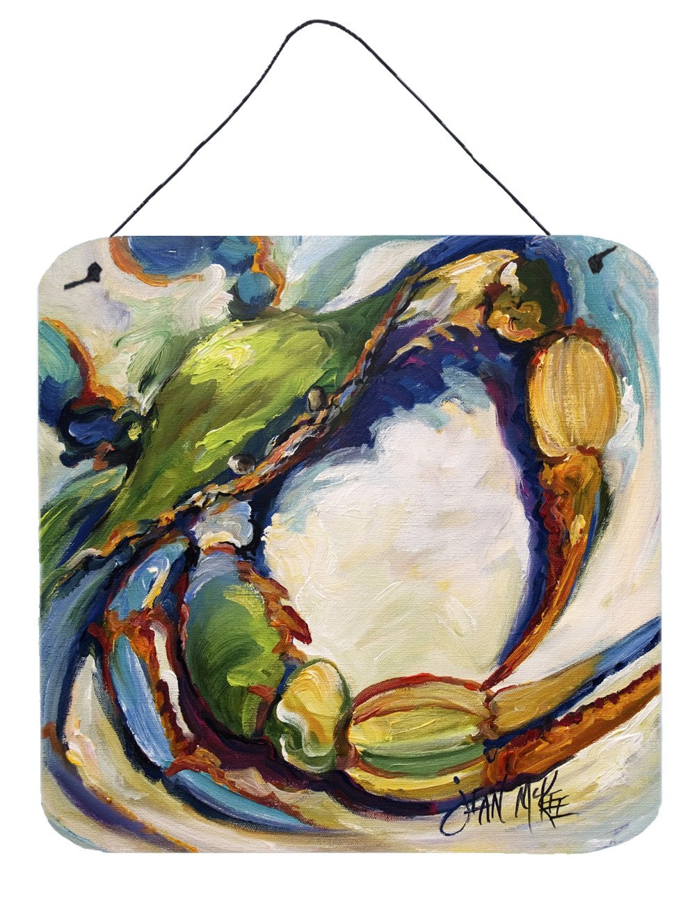 #21 Crab Wall or Door Hanging Prints JMK1254DS66 by Caroline's Treasures