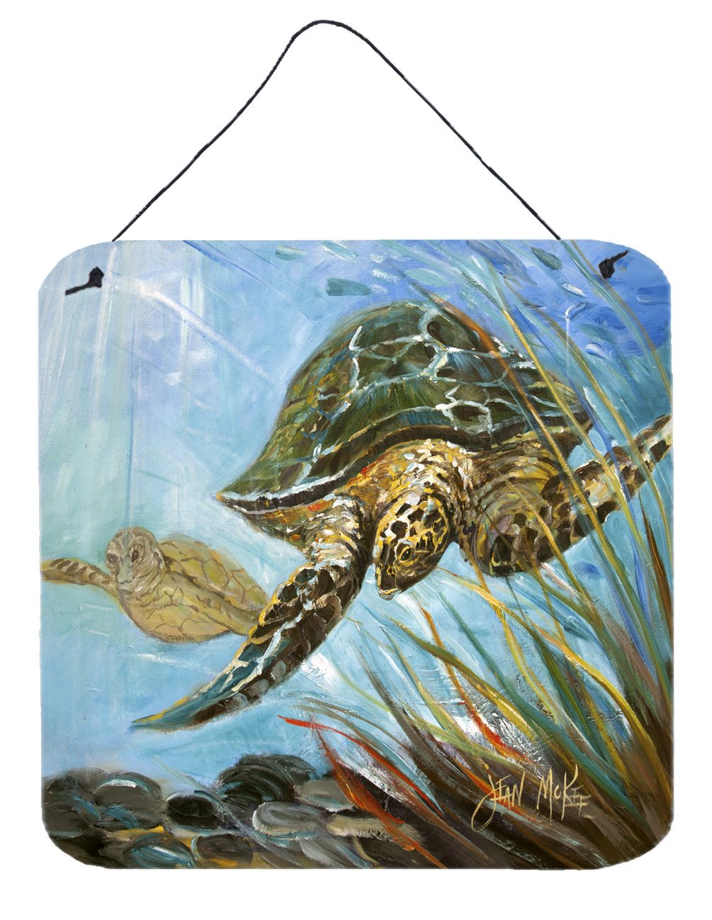 Loggerhead Sea Turtle Wall or Door Hanging Prints JMK1261DS66 by Caroline's Treasures